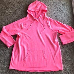 Motherhood Maternity neon pink hoodie XL